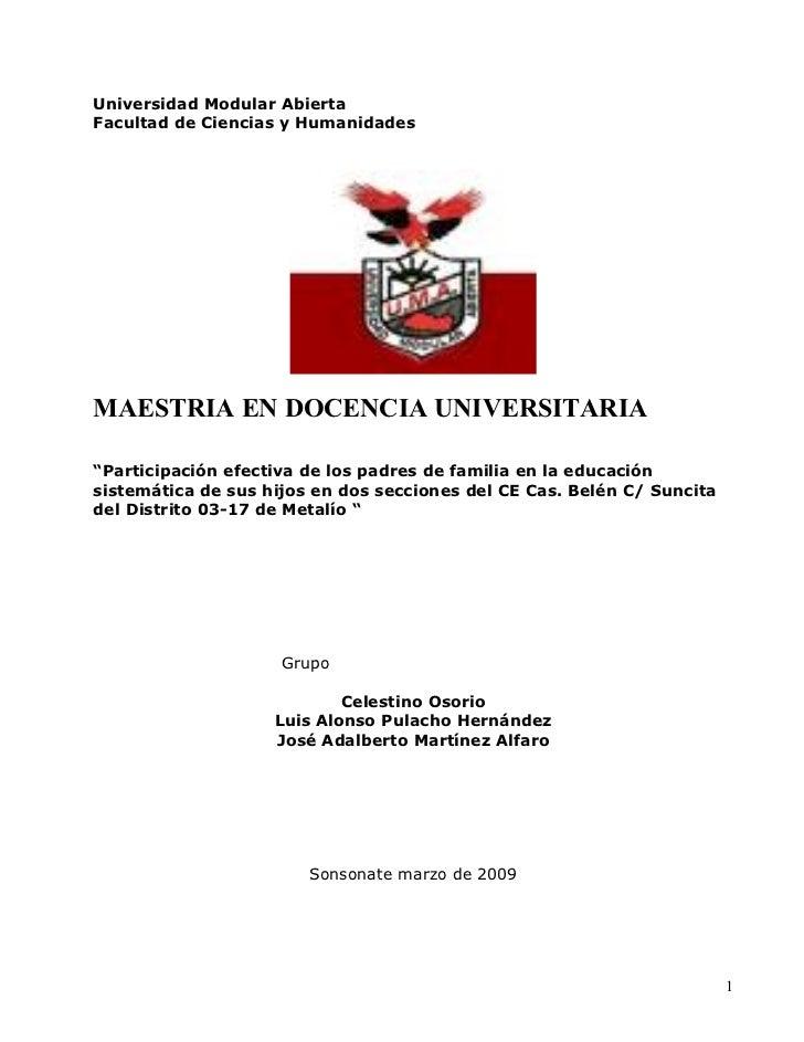Docencia3investigacionsobrelaparticipaciondelospadres 090419094642-phpapp02