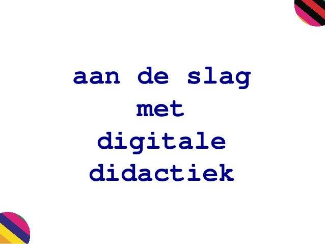 aan de slag met digitale didactiek