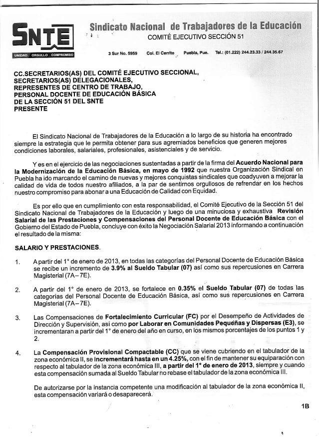 Negociación SEP-SNTE 2013, Docentes basica