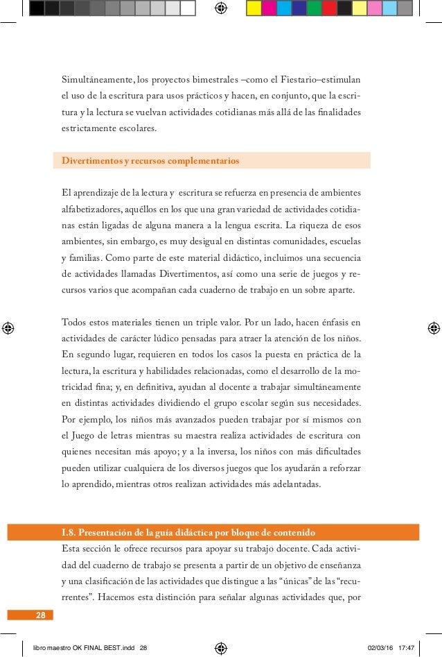 Docentes primaria. alfabetización inicial. libro del maestro