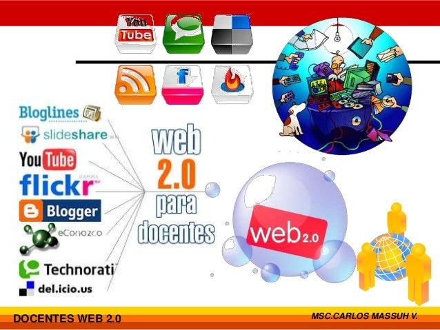 DOCENTES WEB 2.0   MSC.CARLOS MASSUH V.