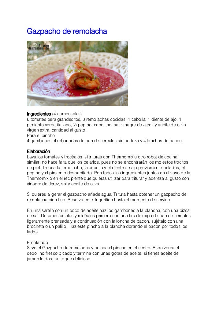 Doce recetas de gazpacho ajoblanco y sopas frias Slide 3