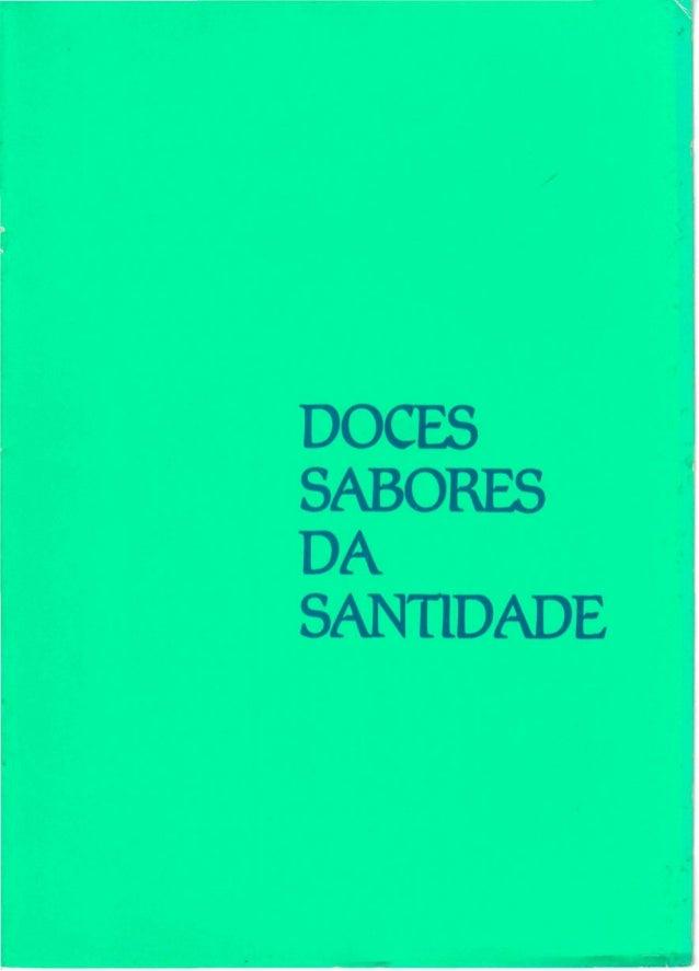 DOCES SABORES DA SANTIDADE