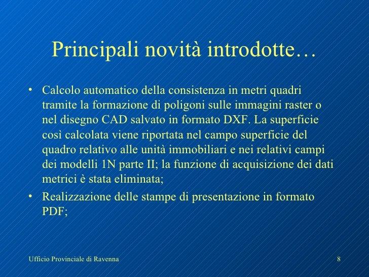 Master docfa for Calcolo metri quadri commerciali