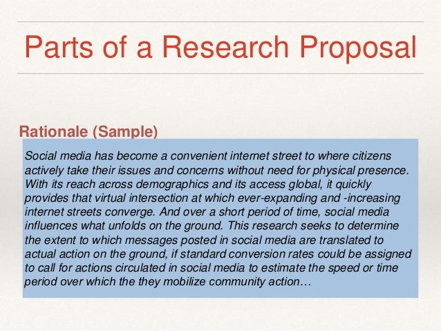 research proposal parts Recommended format for a research protocol part 1 it is the equivalent to the introduction in a research paper and it puts the proposal in context.