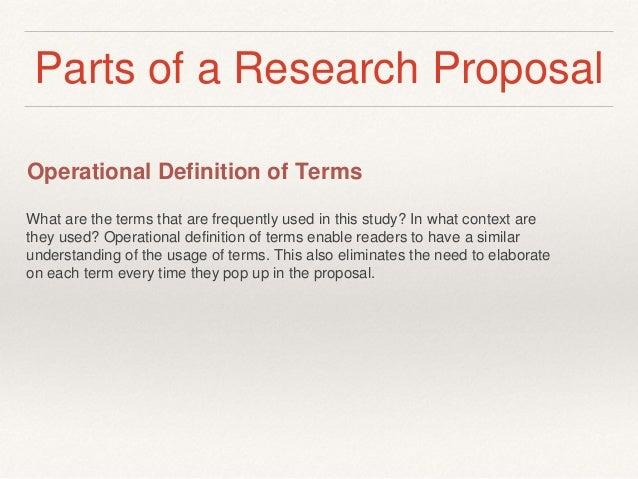 Define research proposal