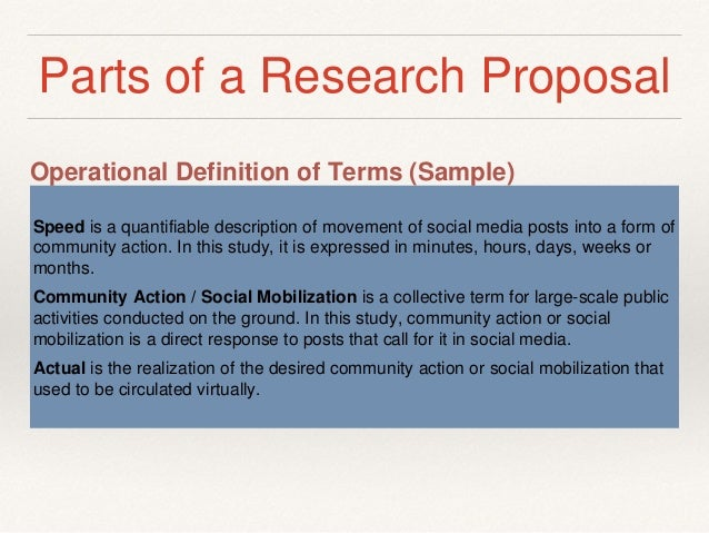 Define research proposal