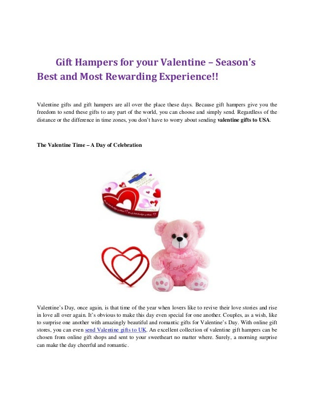 gift hampers for your valentine seasons best and most rewarding experience