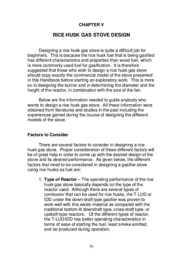 rice husk gasifier stove design pdf