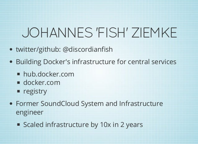 Managing containers with Docker Slide 2