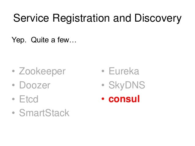 Docker service registration and discovery for Consul zookeeper