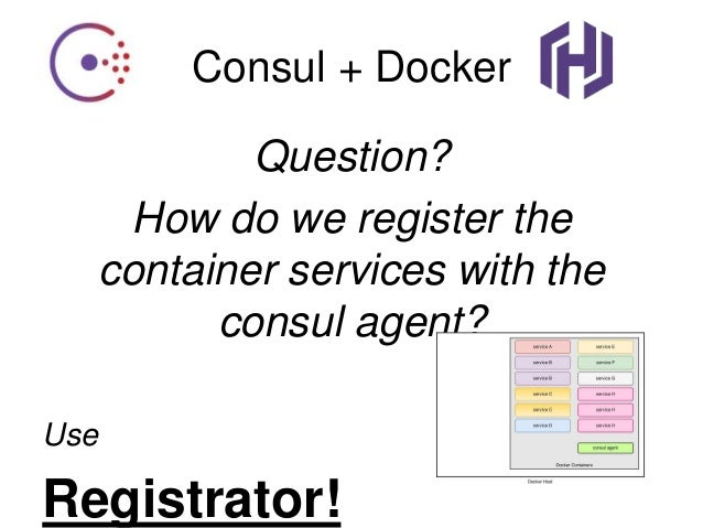 Docker service registration and discovery for Consul with docker