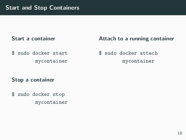 Docker: Containers for Data Science