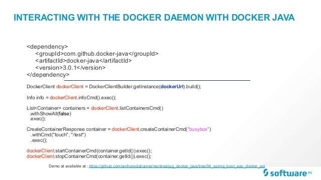 Docker and java