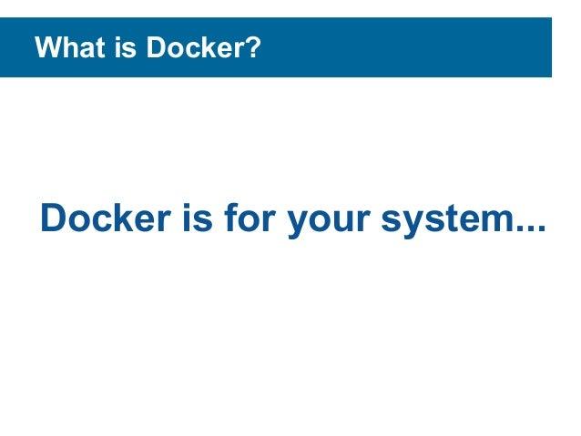 Docker and plone Slide 3