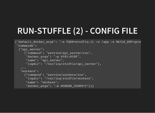 How stuffle uses docker for deployments for Docker run consul