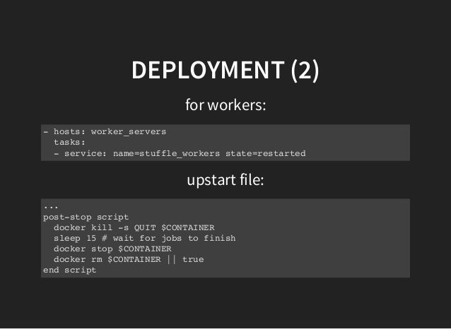 How stuffle uses docker for deployments for Docker consul haproxy
