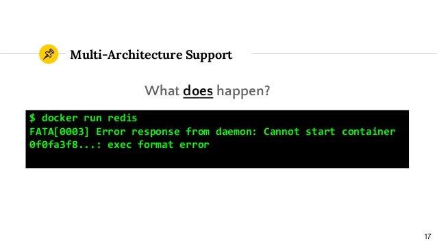 docker cmd exec format error