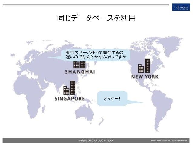 同じデータベースを利用 東京のサーバ使って開発するの 遅いのでなんとかならないですか オッケー!