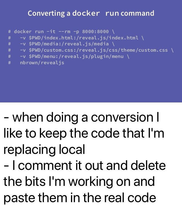 - when doing a conversion I like to keep the code that I'm replacing local - I comment it out and delete the bits I'm work...
