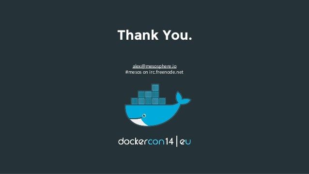Building web scale apps with docker and mesos by alex for Consul distributed lock