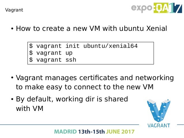 Docker ● With VMs you can have the production environment in your laptop ● But… – VMs takes minutes to start up – VMs use ...