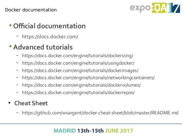 First steps with docker Hands on… https://github.com/docker/labs/tree/master/beginner