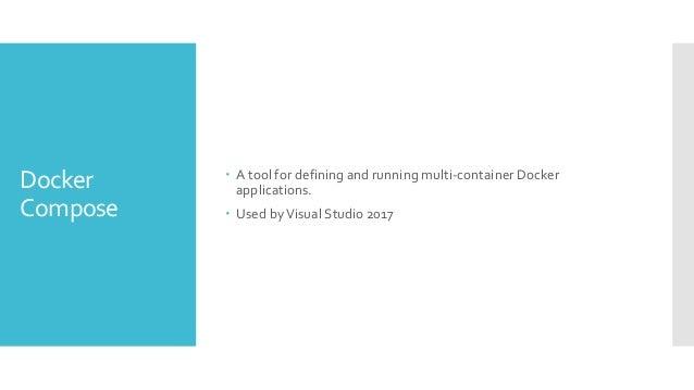 Docker Compose version: '3' services: dockerdemo: image: dockerdemo build: context: ./DockerDemo dockerfile: Dockerfile