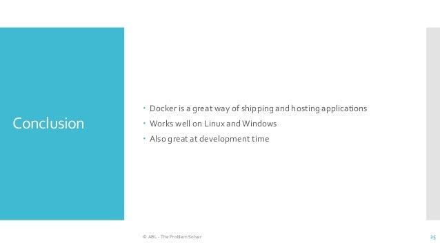 Docker for a .NET web developer