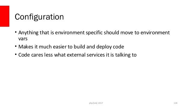 Use Environment Vars • Can specify them one-by-one – dockerruneVAR_NAME=value • Can specify a file – dockerrunenv...