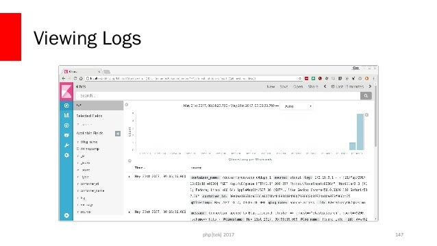Logging notes • dockerlogs does not work with external logging, only JSON • This example can be cleaned up a bit • Kibana...