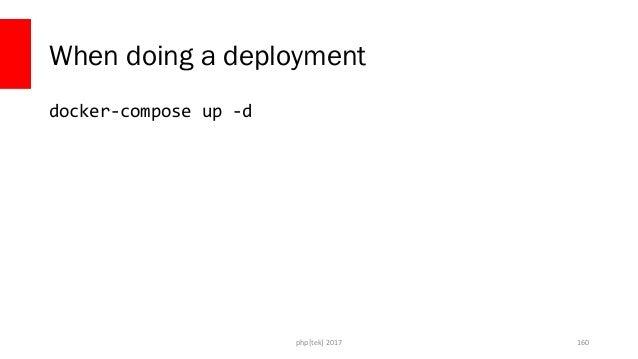 Other Alternative – Variable Substitution • Docker Compose allows variable substitution inside the file • Wrap variables i...