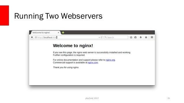 php[tek] 2017 Running Two Webservers 26