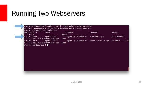php[tek] 2017 Running Two Webservers 30