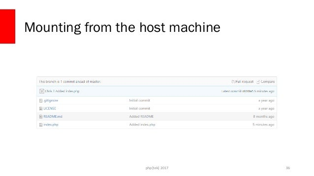 php[tek] 2017 Mounting from the host machine 37