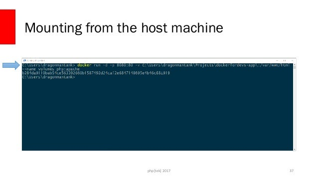 php[tek] 2017 Mounting from the host machine 38