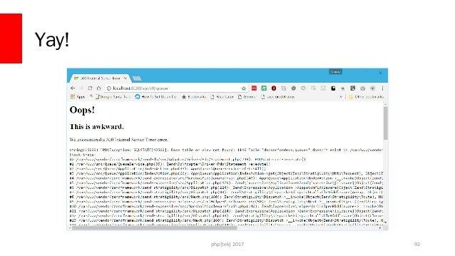 php[tek] 2017 Install our DB Migration Software docker run --rm  -v c:/Users/drago/.composer:/root/.composer  -v c:/Users/...