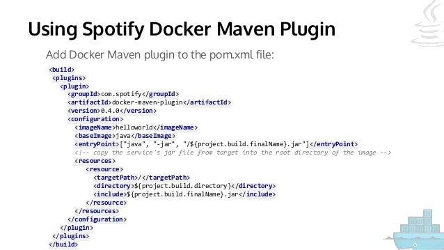 Dockerfile maven plugin