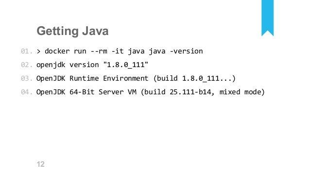 Dockerized Java for Belfast JUG and Docker Belfast meetups