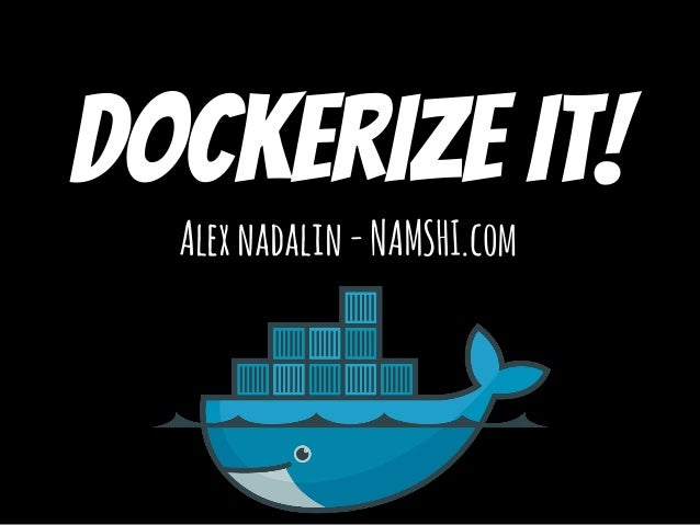 Dockerize it! Alexnadalin-NAMSHI.com