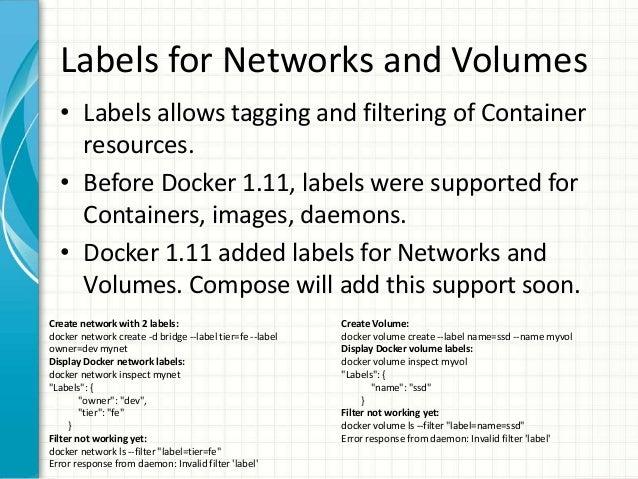 docker compose labels