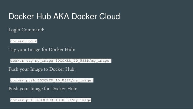 docker login docker hub