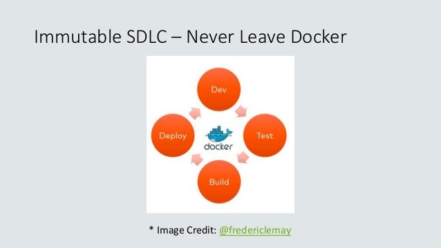 Immutable SDLC – Never Leave Docker * Image Credit: @fredericlemay