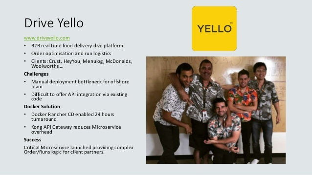Drive Yello www.driveyello.com • B2B real time food delivery dive platform. • Order optimisation and run logistics • Clien...