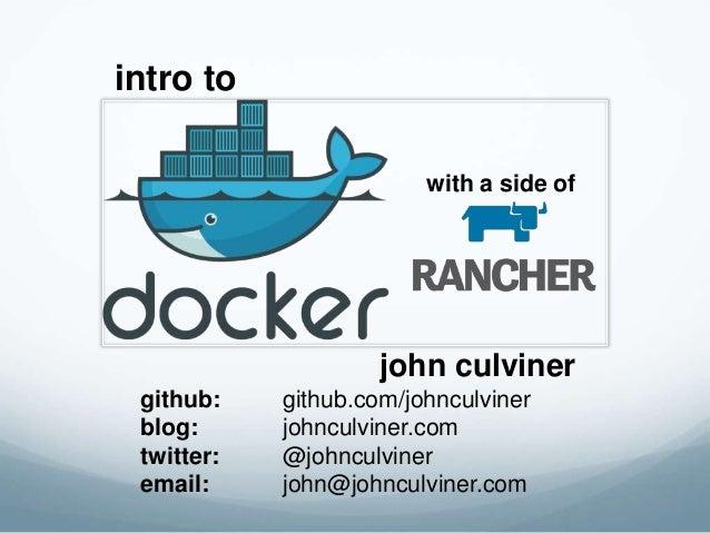 john culviner github: github.com/johnculviner blog: johnculviner.com twitter: @johnculviner email: john@johnculviner.com i...