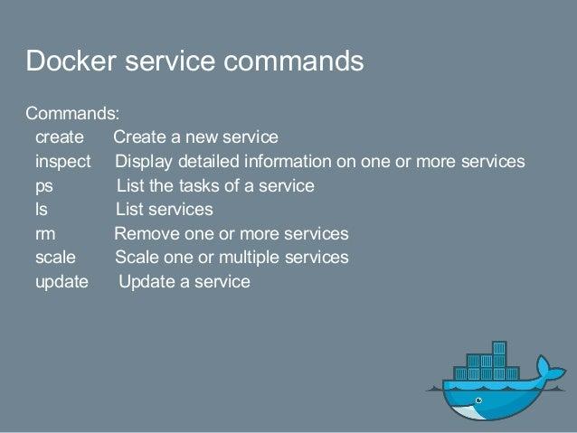Service Create Exercise $ docker network create --driver overlay wp_db $ docker network inspect wp_db $ docker service cre...