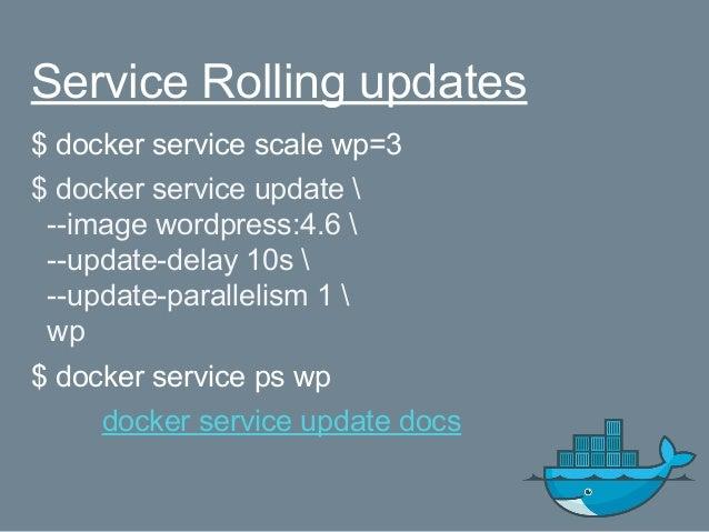 Docker stack $ docker network create --driver overlay mysql $ docker network create --driver overlay proxy $ docker stack ...