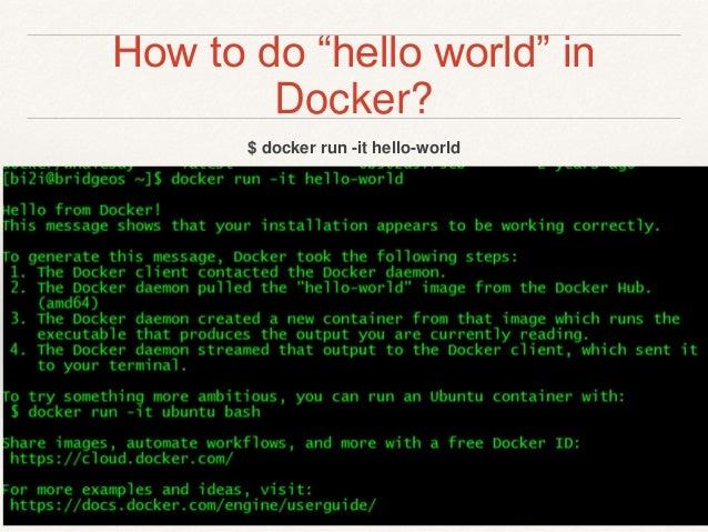 Docker Introductory workshop