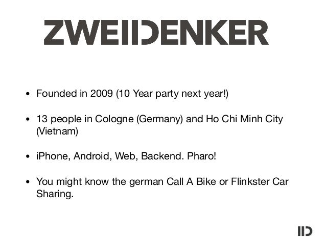 Docker and Pharo @ZWEIDENKER Slide 3