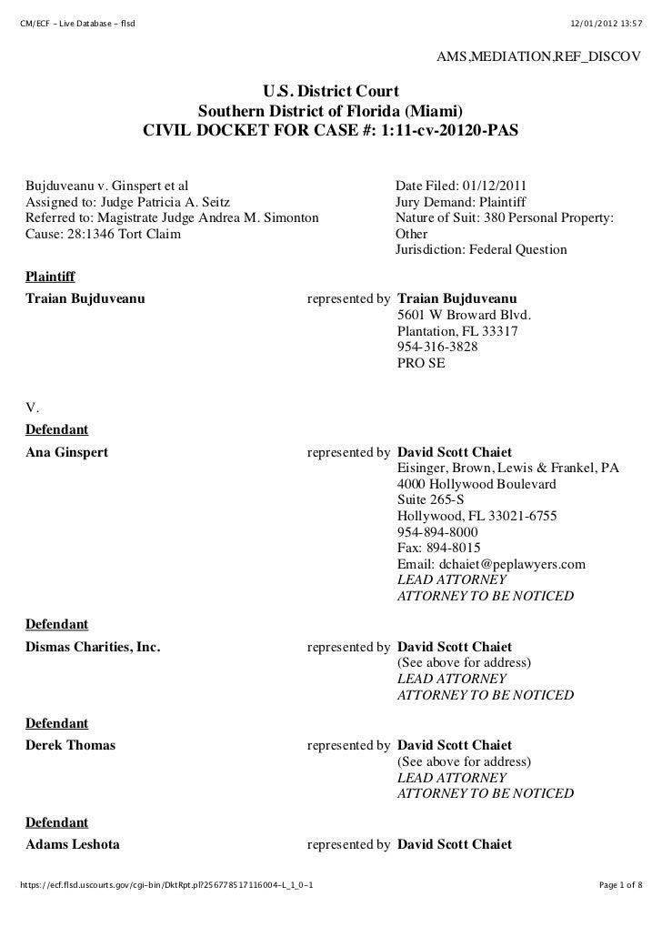 CM/ECF - Live Database - flsd                                                                                    12/01/201...